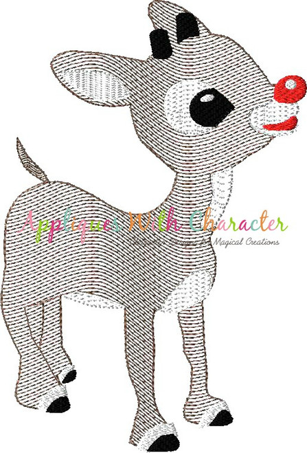 Rudy and Clary Reindeer Bean Stitch Design