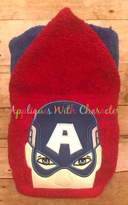 America Hero Peeker Applique Design
