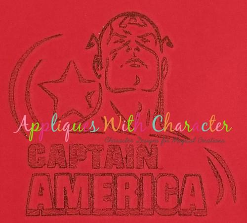 America Hero Bean Stitch Design
