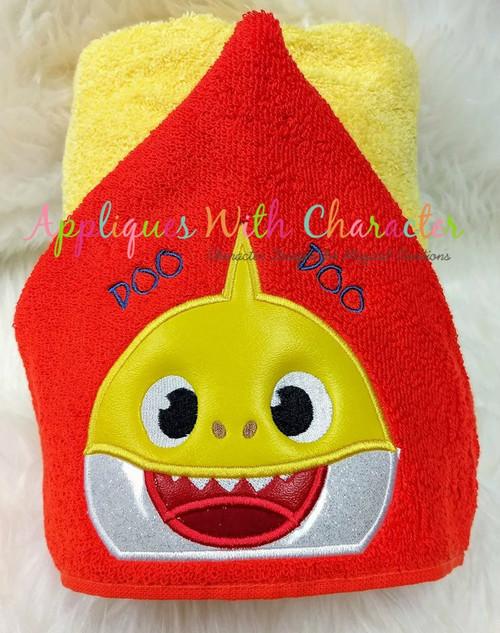 Baby Shark Peeker Applique Design