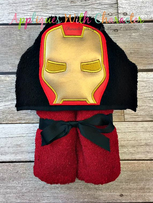 Iron Man Peeker Applique Design