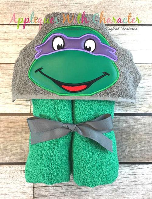 Donny Ninja Hero Turtle Peeker Applique Design