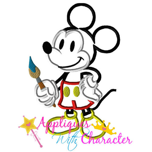 Mr Mouse Animators Palate Artist  Applique Design