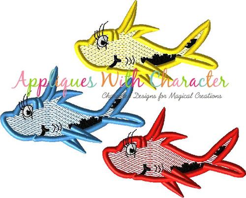 Seuss Red Fish Bean Stitch Design