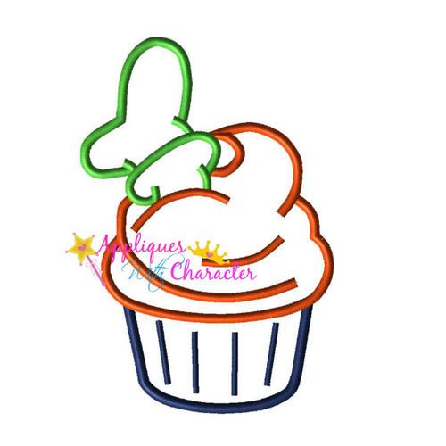 Goofie Cupcake  Applique Design