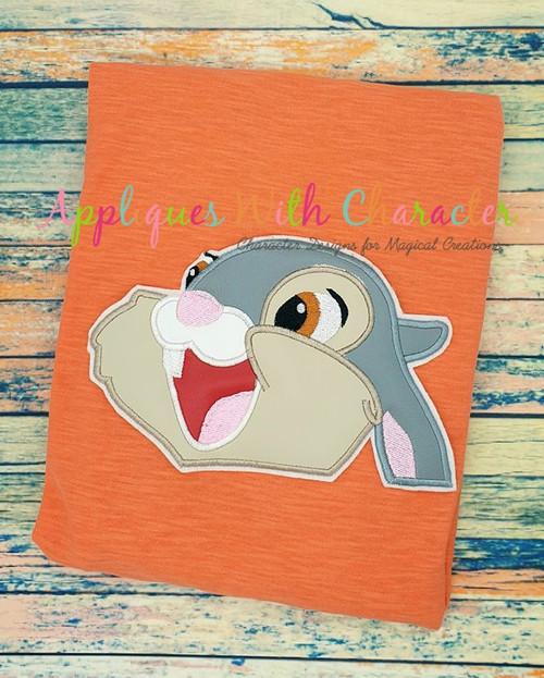 Bambie Thumper Bunny Peeker Applique Design