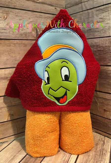 Pinnochio Jiminy Cricket Peeker Applique Design
