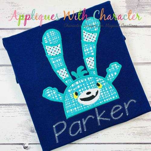 Abby Hatch Bozzly Bunny Peeker Applique Design