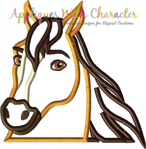 Spirit Horse Peeker Applique Design