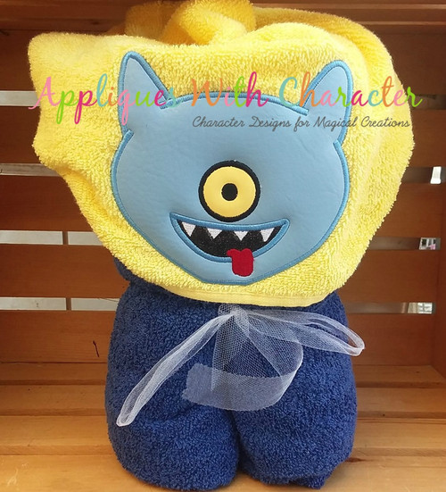 Ugly Doll Dog Peeker Applique Design