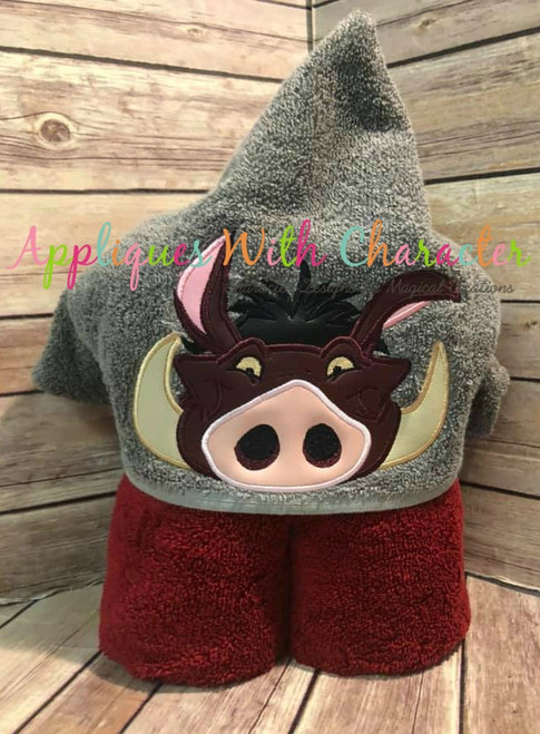 Lion Royalty Pumbaa Warthog Peeker Applique Design
