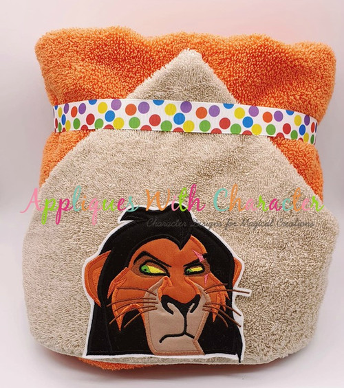 Lion Royalty Scar Lion Peeker Applique Design