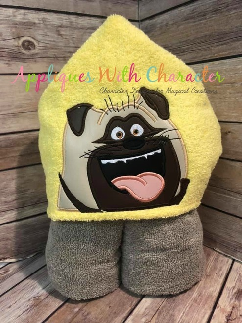 Pets Mel Pug Peeker Applique Design