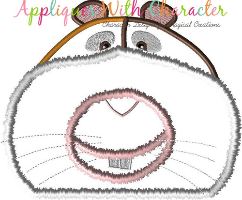 Pets Myron Hamster Peeker Applique Design