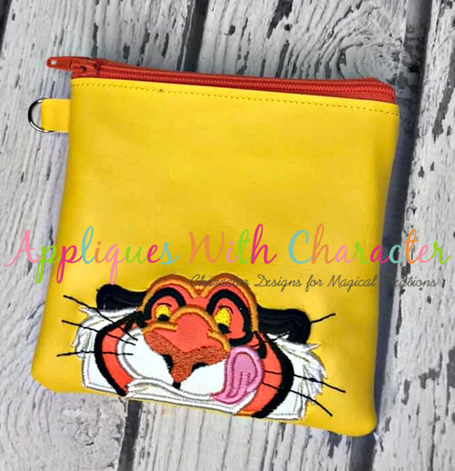 Aladdin Rajah Tiger Peeker Applique Design