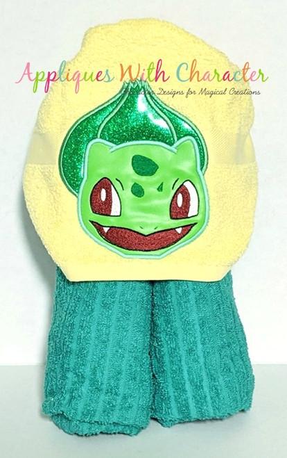 Poke Bulbasaur Peeker Applique Design