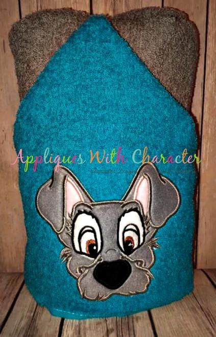 Lady Tramp Peeker Dog Applique Design