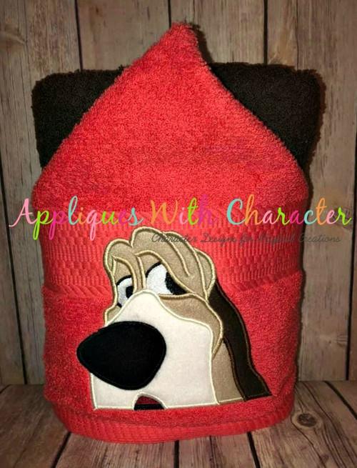 Lady Trusty the Hound Dog Peeker Applique Design