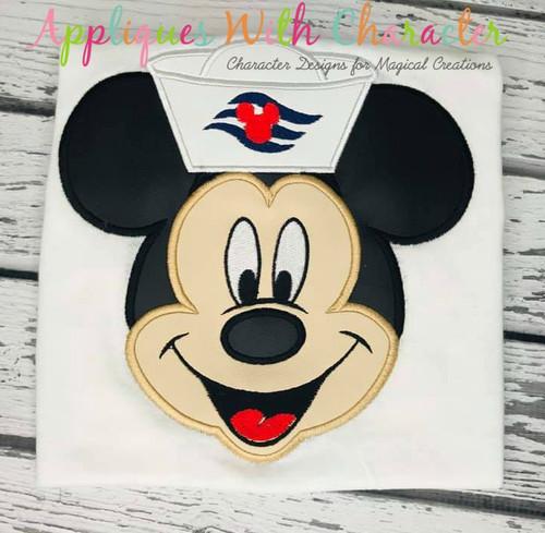 Mr Mouse Cruise Applique Design