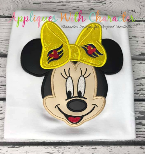 Miss Mouse Cruise Applique Design