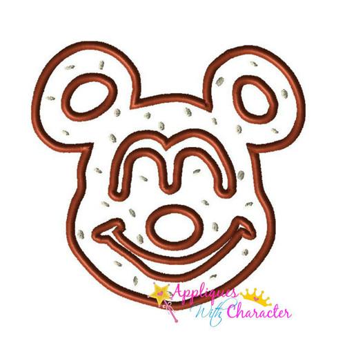 Mr Mouse Pretzel Applique Design