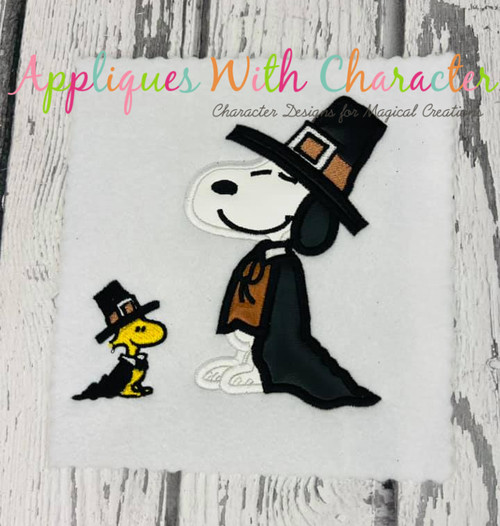 Peanuts Snoopy Thanksgiving Applique Design
