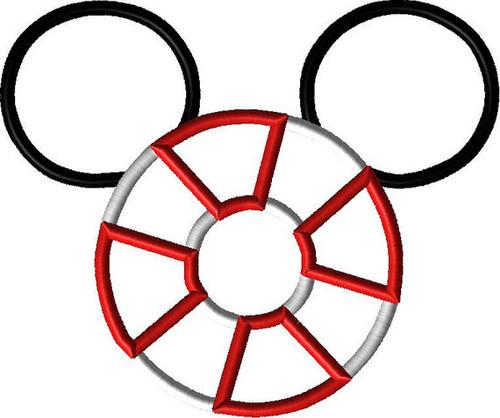 Life Preserver Cruise Mr Mouse Ears   Applique Design