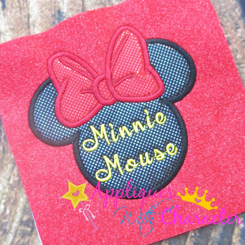 Miss Mouse Signature  Applique Design