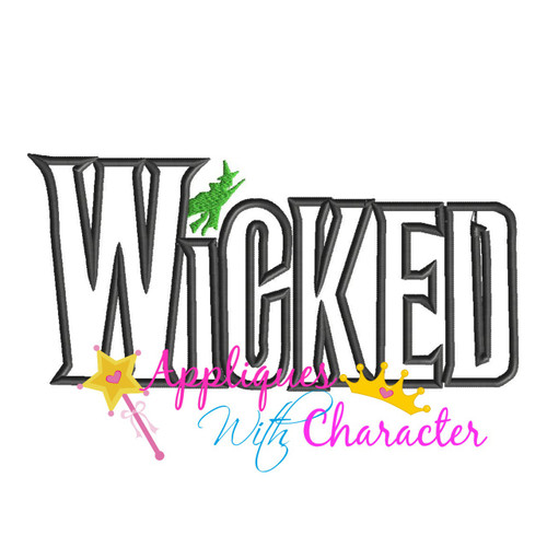 Wickedly Musical Word Applique Design