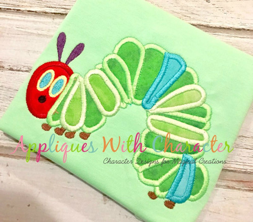 Caterpillar Applique Design
