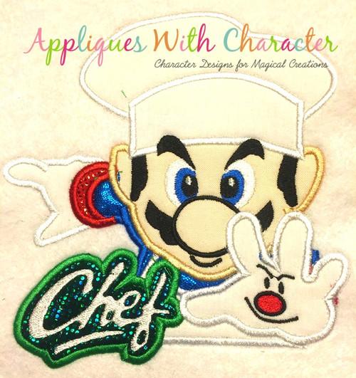 Chef Mareo Applique Design