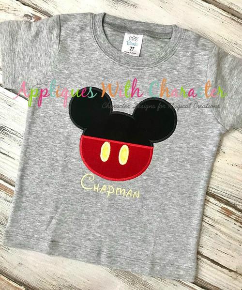 Mr Mouse Clubhouse Head Applique Design