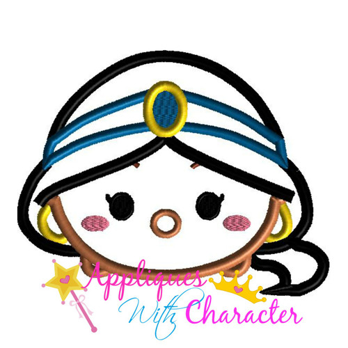 Aladdine Jasmin Tsum Tsum Applique Design