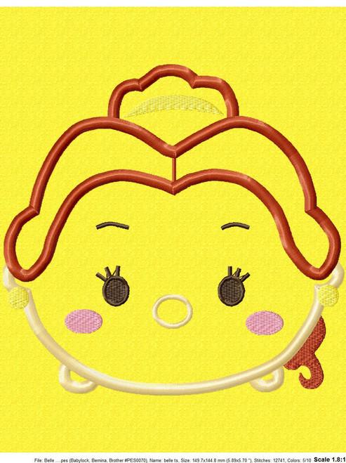 Beauty Bella Tsum Tsum Applique Design