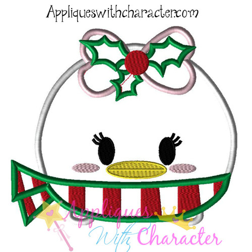 Christmas Daizy Tsum Tsum Applique Design