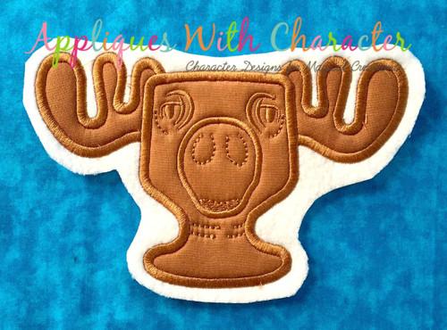 Christmas Vacation Moose Mug Applique Design