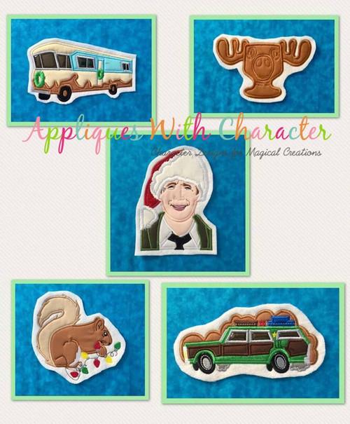Christmas Vacation Movie Applique 5 Design Set