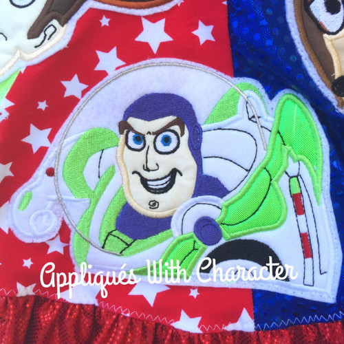 Toy Story Buzz Toy Applique Design