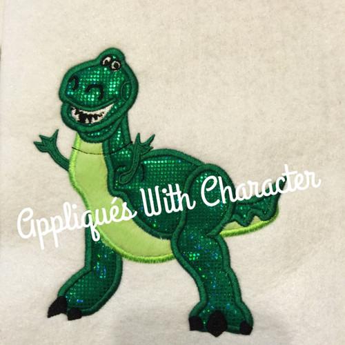 Toy Story Rex Dinosaur Toy Applique Design