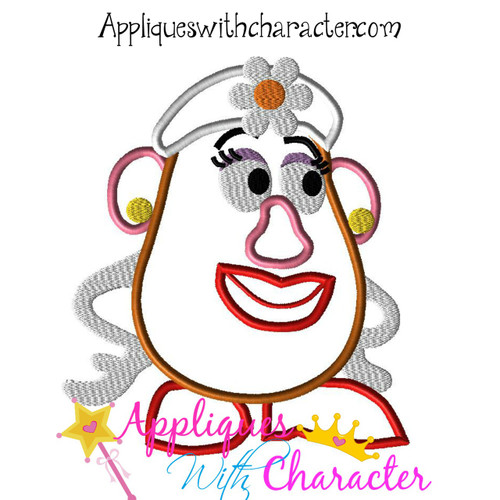 Toy Story Mrs. Potato Head Toy Applique Design