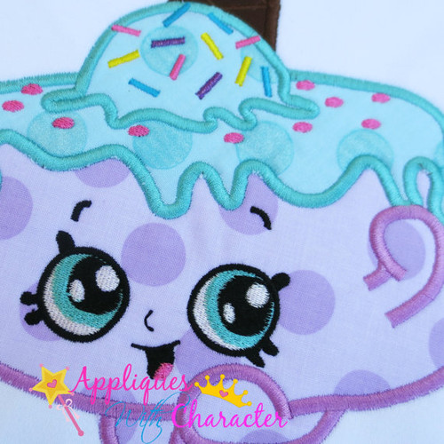 Shopikin Ice Cream Cake  Applique Design