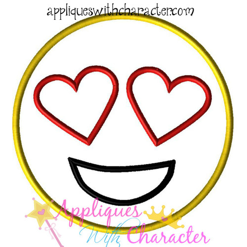 Love Emoji Applique Design