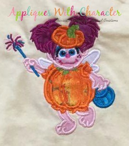Halloween Abby Cadabby Applique Design