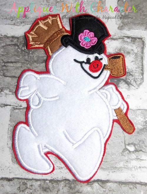 Frostee Snowman Applique Design