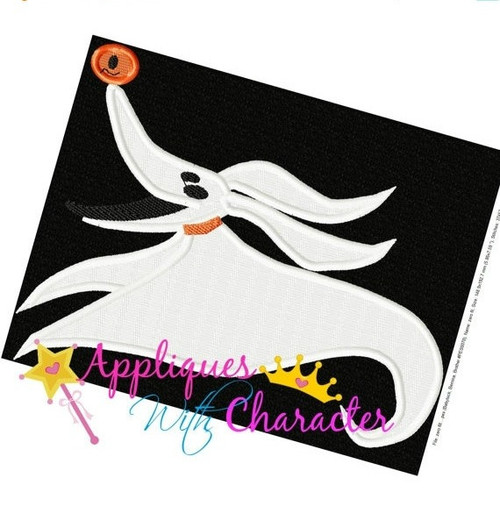 Nightmare Before Christmas Zero FILLED Embroidery Design