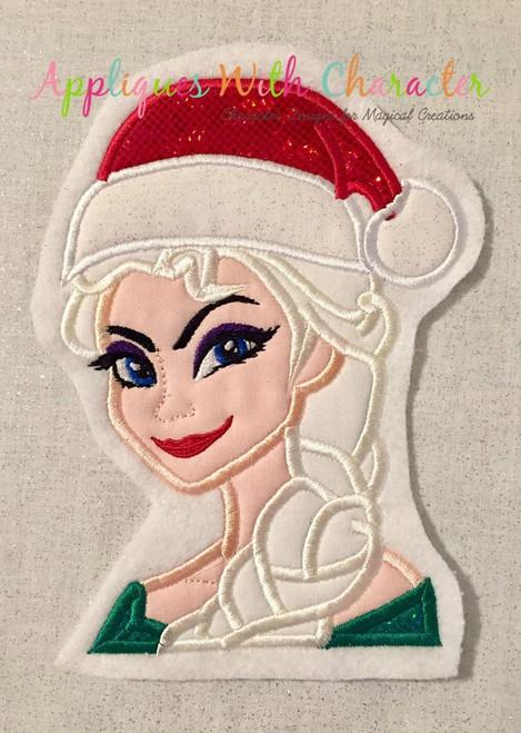 Frozen Elsa Christmas Applique Design