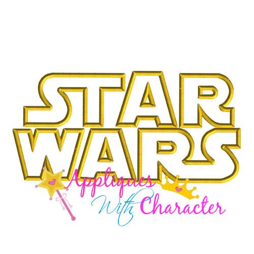 Star Battle Logo Applique Design