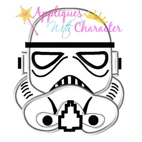 Stormtrooper Helmet Applique Design