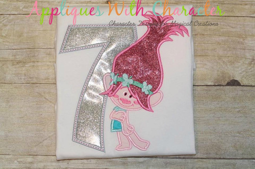 Pop Troll Seven Applique Design