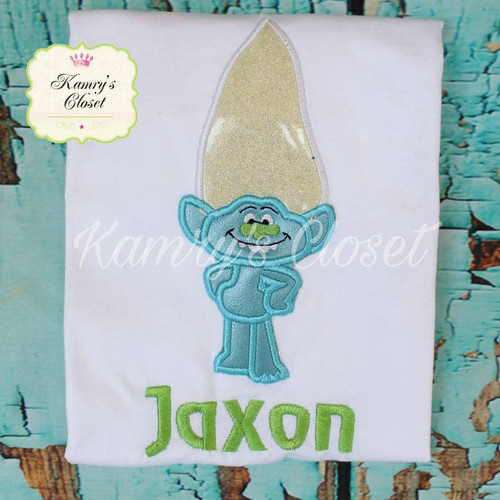 Troll Movie Guy Diamond Applique Design
